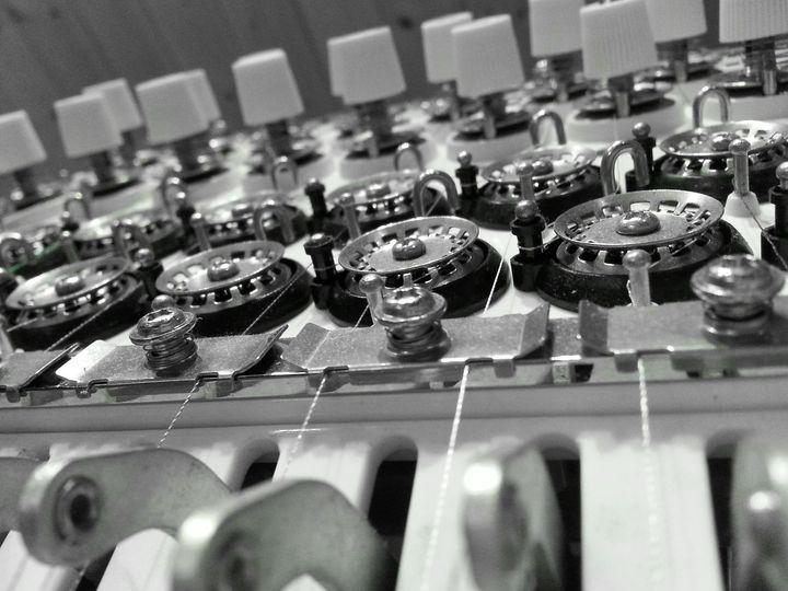 Ansicht Stickmaschine